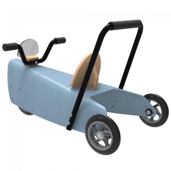 porteur en bois bleu chou du volant. Black Bedroom Furniture Sets. Home Design Ideas