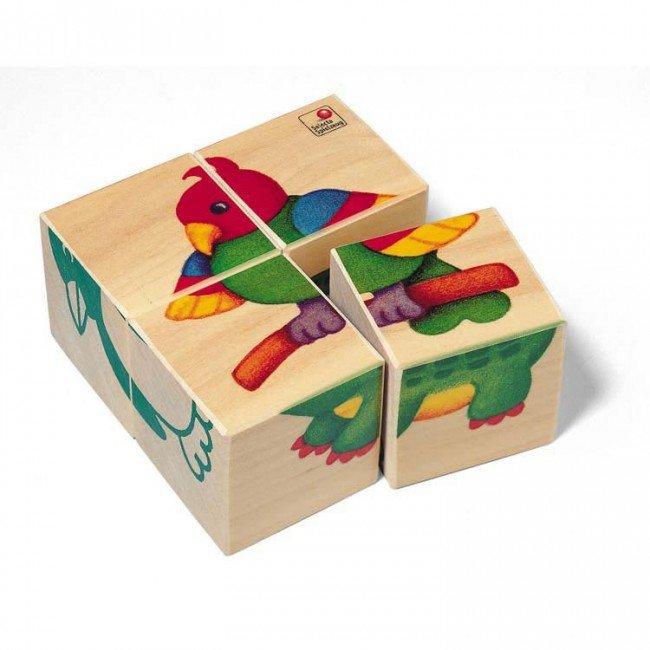 cubes en bois b b s animaux du zoo selecta. Black Bedroom Furniture Sets. Home Design Ideas
