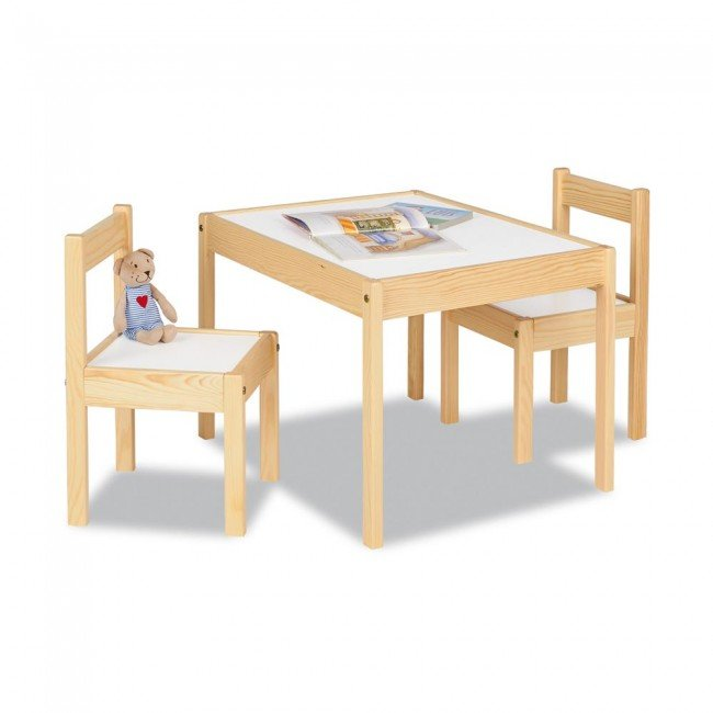 Table et chaises en bois pinolino for Table chaise bois