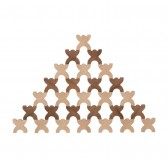 XManis 48 Bonshommes en bois à empiler - Goki Nature