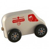 Mini camion ambulance en bois