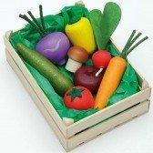 Grande cagette de légumes en bois