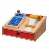 Caisse enregistreuse en bois avec calculatrice - Nic Toys