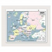 Carte Vintage - Europe Politique