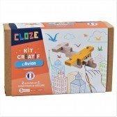 Kit créatif Cloze construction Avion - 11 pièces