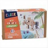kit créatif Cloze construction Éléphant - 13 pièces