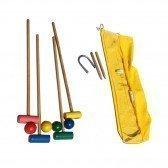 Jeu de croquet en bois 4 joueurs en sac transparent