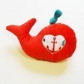 Doudou Bébé Baleine Cerise