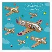 6 Avions à construire en carton