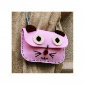 Kit de couture sac Chat rose