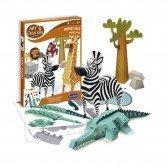 Kit de créations Animaux de la Savane en papier
