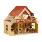 Maison de poupées avec balcon