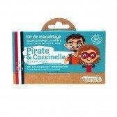 Kit de maquillage 3 couleurs Pirates et Coccinelles