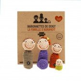 Marionnettes à doigts Famille - Fabricant Espagnol