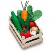 Petite cagette de légumes en bois
