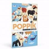 Poster découverte en stickers Poppik - Animaux du Monde