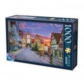 Puzzle 1000 pièces  Allemagne - Ville de Rothenburg