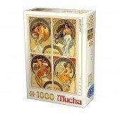 Puzzle 1000 pièces Alphonse Mucha - Arts
