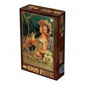 Puzzle 1000 pièces Vintage - Chocolat Carpentier