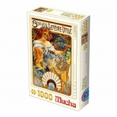 Puzzle 1000 pièces Alphonse Mucha - Biscuits Lefèvre Utile - DToys