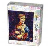 Puzzle 500 pièces Léonard De Vinci - Dame à l'Hermine - D-Toys