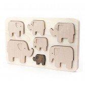 Puzzle à encastrement Eléphants