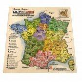 Puzzle en bois des départements Français