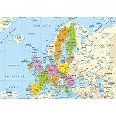 Puzzle en bois la carte d'Europe 50 pcs