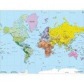Puzzle en bois la carte du monde 50 pcs