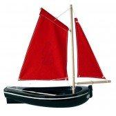 Barque en bois noire 30 cm
