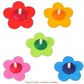Toupie Fleur colorée