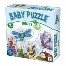 6 puzzles insectes - 2 ans - D-Toys