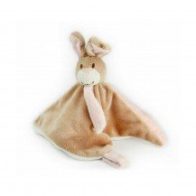 Doudou Lapin rose - attache tétine - Mailou Tradition