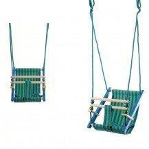 Balançoire Swing bois et tissu - Artisan Polonais