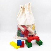 70 blocs en bois colorés - Ebert