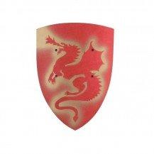 Bouclier en bois Dragon - rouge - VAH