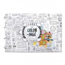 Grand carnet de coloriage - 24 pages - Agent Paper