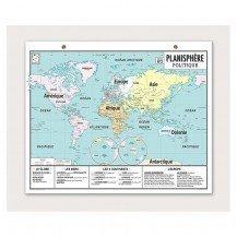 Carte Vintage - Planisphère Politique - Emile En ville