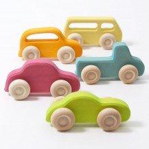 Lot de 5 voitures en bois - Grimm's
