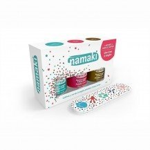 Coffret 3 vernis Caraibes Corail Bronze + lime - Namaki