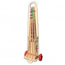 Jeu de croquet 4 joueurs sur chariot - Artisan du Jura