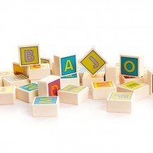 Cubes en bois Alphabet - Artisan Polonais