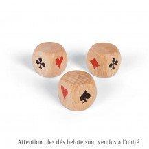 Dé en bois Belote 30 mm - Artisan du Jura