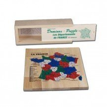 Dominos Puzzle Carte de France - Artisan du Jura
