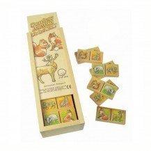Dominos en bois Les Animaux de la Forêt - Artisan du Jura