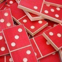 Grand jeu de dominos en bois - Les Jouets du Queyras