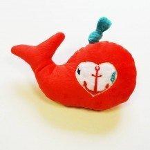 Doudou Bébé Baleine Cerise - Moncalin