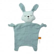 Doudou lapin bleu coton biologique - aPunt Barcelona