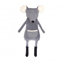 Peluche Range-Pyjama Souris grise - Wooly Organic