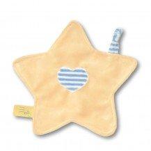 Doudou petite étoile jaune rayures bleue - Moncalin